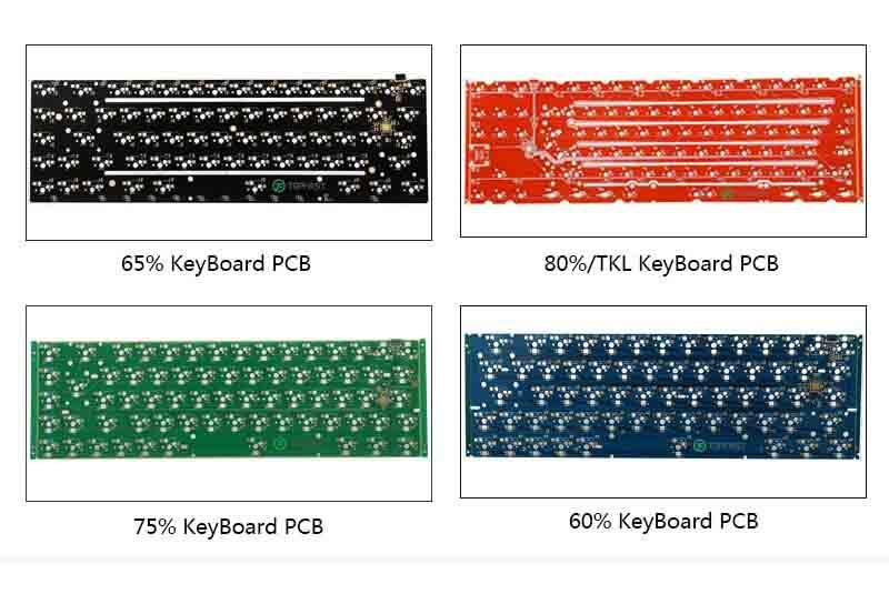 Custom circuit board design service 60l 61key type c smd pcba hot swappable rgb 60% diy 60 percent rgb mechanical keyboard pcb